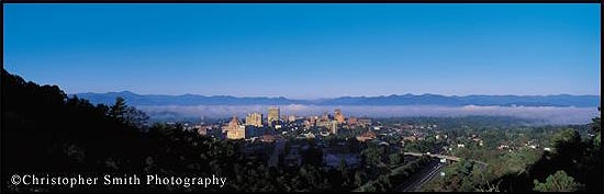 Asheville skyline.  Click to go to Christopher Smith Photography.  Image used with permission.