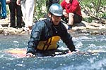 Chris Snyder, Cowbell Rapid, Nolichucky River, TN.  Click for larger image.