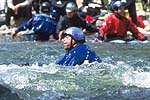 Greg Hall, Cowbell Rapid, Nolichucky River, TN.  Click for larger image.