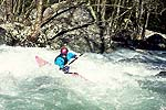 Jim Sheppard in Monster, Upper Big Creek, NC.  Copyright Chris Bell.  Click for larger image.