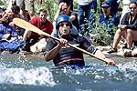 Jim Snyder, Cowbell Rapid, Nolichucky River, TN.  Click for larger image.