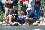 Timers and Judges, Cowbell Rapid, Nolichucky River, TN.  Click for larger image.