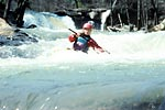 Kristi in Action, Kristi Schleder, Crooked Fork Creek (TN).  Copyright Chris Bell.