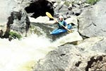 Philip Curry in his kayak paddling Gore Canyon (CO).  Copyright Chris Bell.