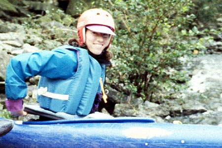 Robin at the Put-in, Put-in, Robin Knupp, Upper Gauley (WV).  Copyright Chris Bell.