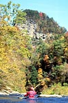 Garden Hole in the Fall, Garden Hole put-in-take-out, Unknown, Russell Fork (VA-KY).  Copyright Chris Bell.
