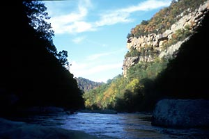 Mouth of the Russell Fork Gorge, Russell Fork (VA-KY).  Copyright Chris Bell.