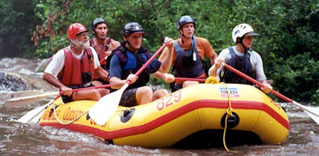 Rafting the Cheoah, Payson Kennedy, Don Dixon and Bunny Johns, Cheoah (NC).  Copyright Chris Bell.