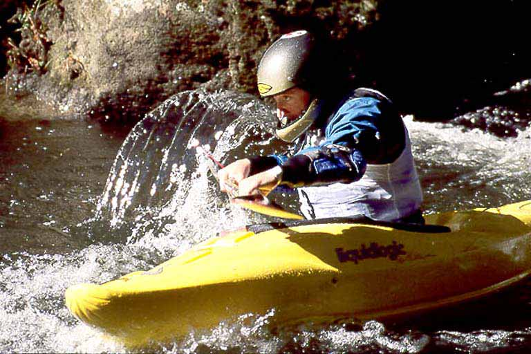 At the Start, Eddy Above Frankenstein, Clay Wright, Green Narrows (NC).  Copyright Chris Bell.