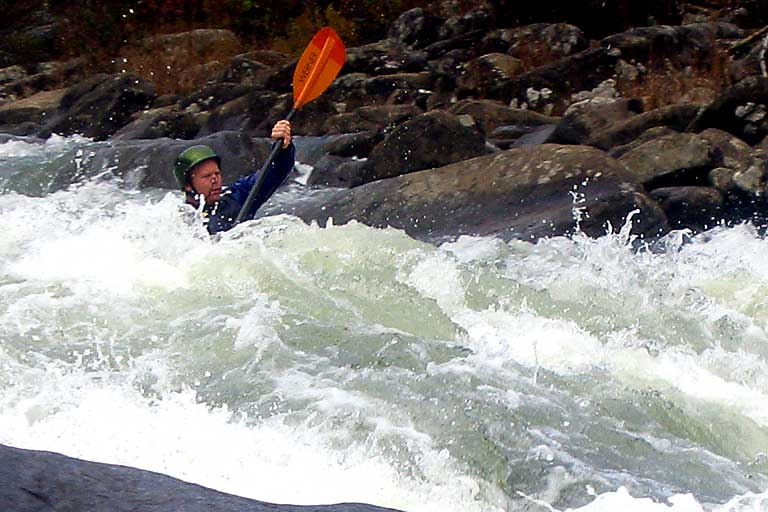 Hazmatt, Pillow Rock, Matt Buys, Upper Gauley (WV).  Copyright Chris Bell.