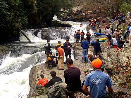 Crowd Scene, Green Narrows (NC).  Copyright Chris Bell.