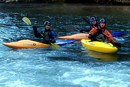 , Eddy Below Redneck Falls, Bob Fay, Cecil and Alex, Lower Rocky Broad (NC).  Copyright Chris Bell.
