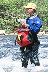 Spencer Cook at Work, Cowbell Rapid, Nolichucky River, TN.  Click for larger image.